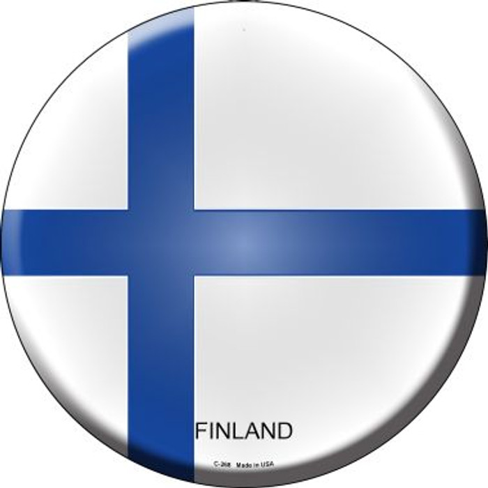 Finland Country Wholesale Novelty Metal Circular Sign