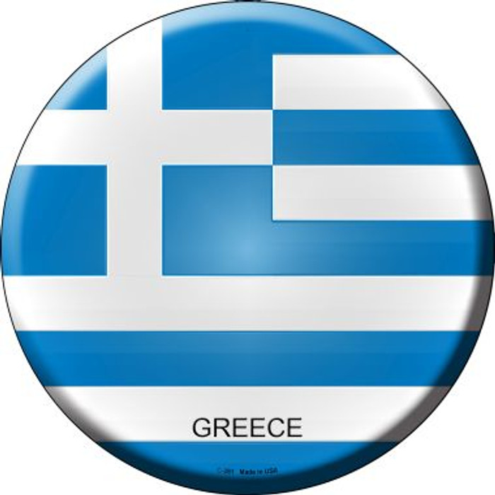 Greece Country Wholesale Novelty Metal Circular Sign