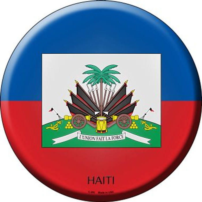 Haiti Country Wholesale Novelty Metal Circular Sign