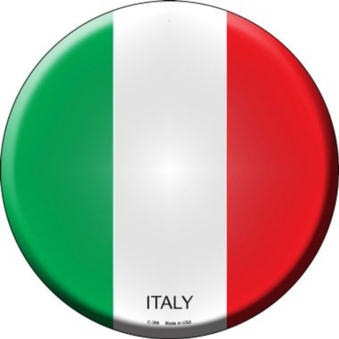 Italy Country Wholesale Novelty Metal Circular Sign