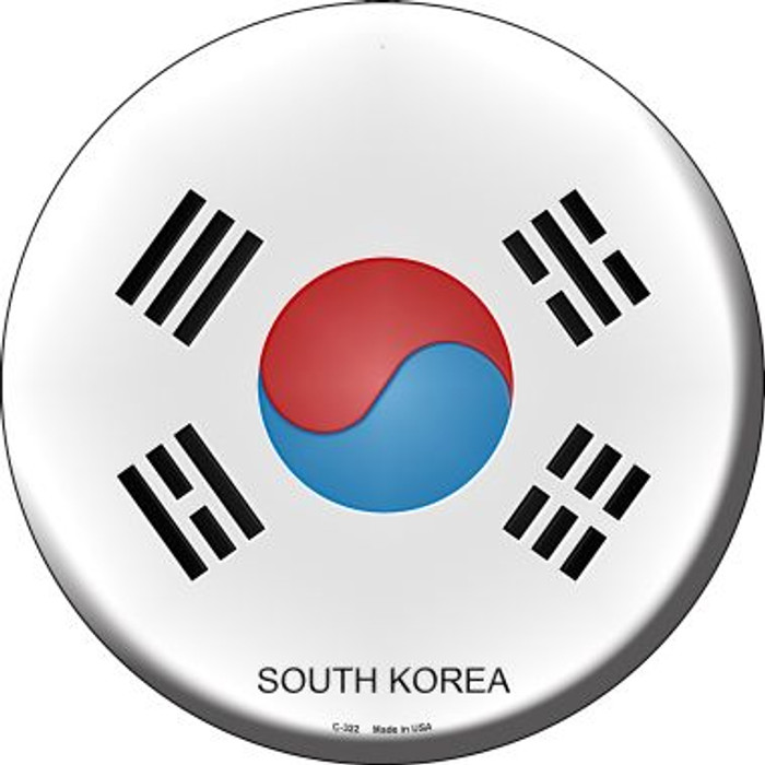 South Korea Country Wholesale Novelty Metal Circular Sign