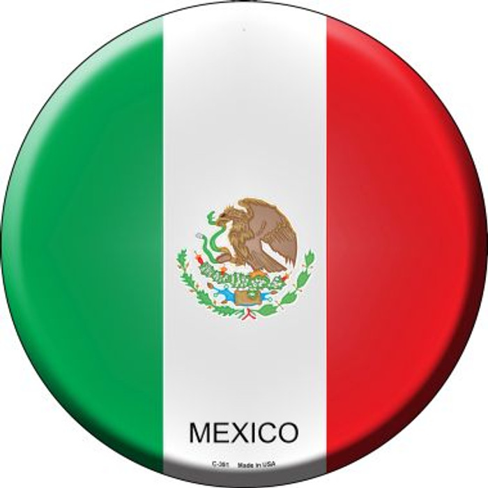 Mexico Country Wholesale Novelty Metal Circular Sign
