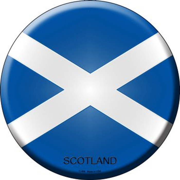 Scotland Country Wholesale Novelty Metal Circular Sign
