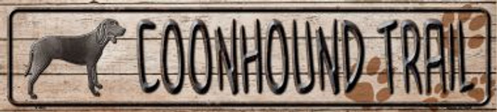 Coonhound Trail Wholesale Novelty Metal Mini Street Sign