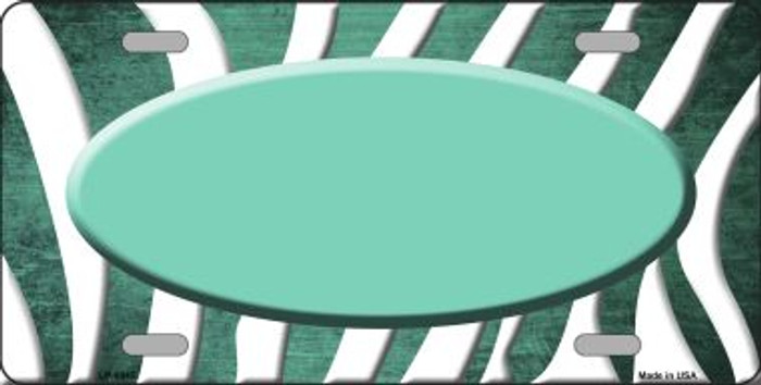 Mint White Zebra Oval Oil Rubbed Wholesale Metal Novelty License Plate