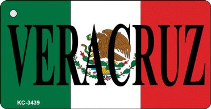 Veracruz On Flag Mini License Plate Wholesale Metal Key Chain