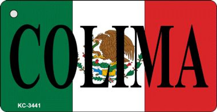 Colima On Flag Mini License Plate Wholesale Metal Key Chain