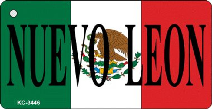 Nuevo Leon On Flag Mini License Plate Wholesale Metal Key Chain