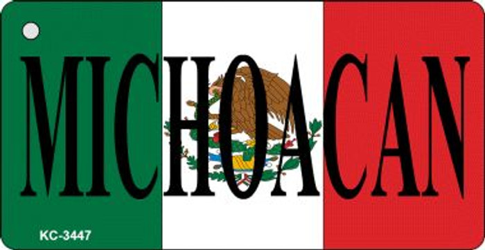 Michoacan On Flag Mini License Plate Wholesale Metal Key Chain