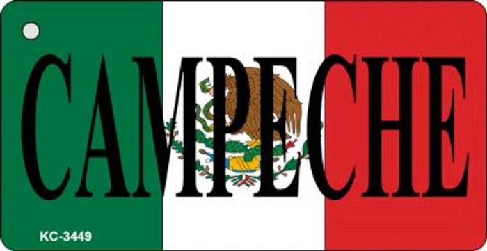 Campeche On Flag Mini License Plate Wholesale Metal Key Chain