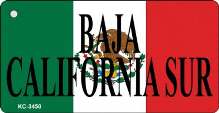 Baja California On Flag Mini License Plate Wholesale Metal Key Chain