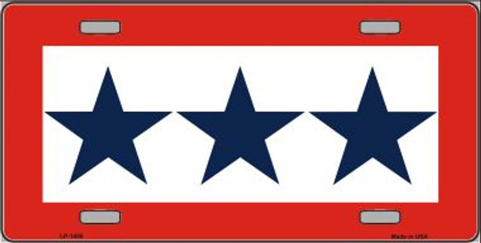 Blue Star Three Wholesale Metal Novelty License Plate