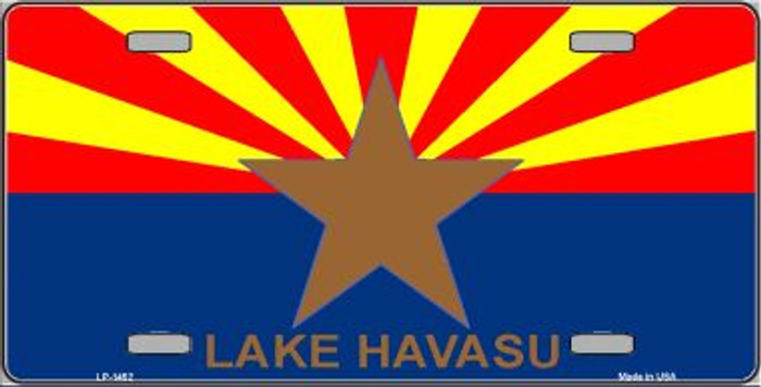 Lake Havasu Arizona State Flag Background Wholesale Metal Novelty License Plate LP-1452