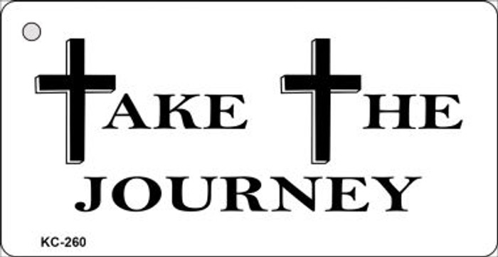 Take The Journey Mini License Plate Metal Novelty Key Chain