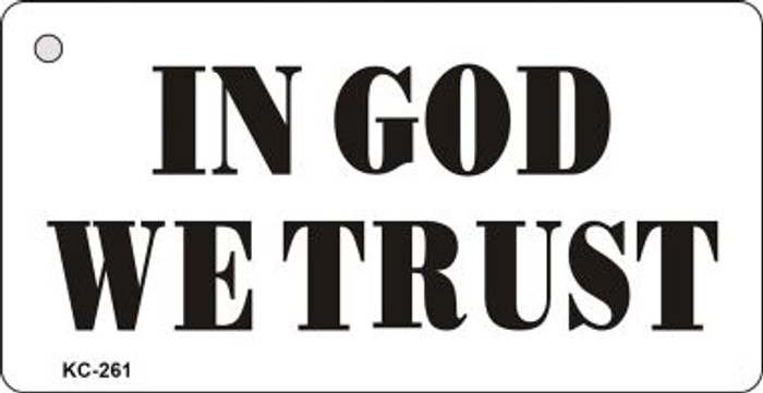 In God Trust Mini License Plate Metal Novelty Key Chain