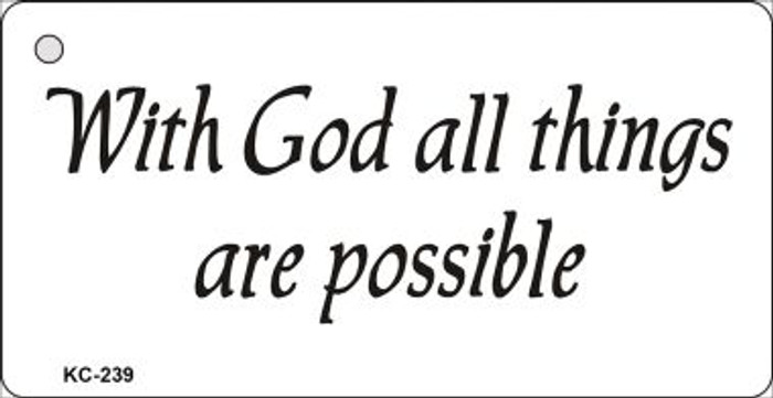 With God Mini License Plate Metal Novelty Key Chain