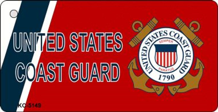 United States Coast Guard Mini License Plate Metal Novelty Key Chain