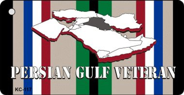 Persian Gulf Veteran Mini License Plate Metal Novelty Key Chain