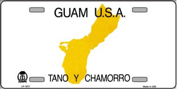Guam Novelty State Background Wholesale Metal License Plate LP-1472