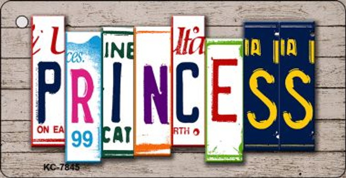 Princess License Plate Art Metal Novelty Mini License Plate Key Chain
