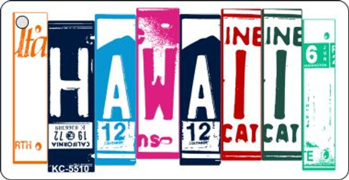 Hawaii License Plate Art Metal Novelty Mini License Plate Key Chain