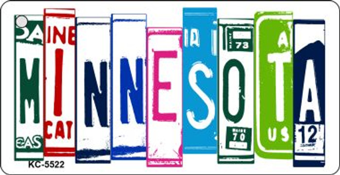 Minnesota License Plate Art Metal Novelty Mini License Plate Key Chain