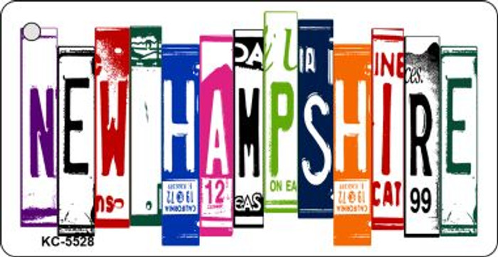 New Hampshire License Plate Art Metal Novelty Mini License Plate Key Chain