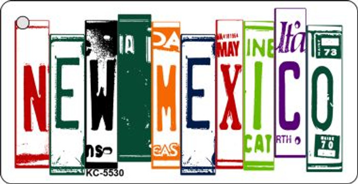 New Mexico License Plate Art Metal Novelty Mini License Plate Key Chain