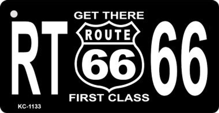 Route 66 First Class Mini License Plate Metal Novelty Key Chain