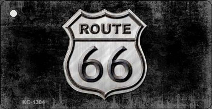 Route 66 Distressed Mini License Plate Metal Novelty Key Chain