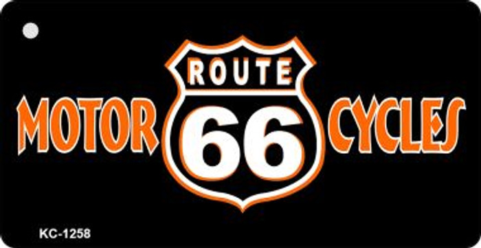 Route 66 Motor Cycles Novelty Wholesale Metal License Plate