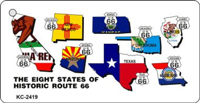 Eight States Route 66 Novelty Wholesale Key Chain