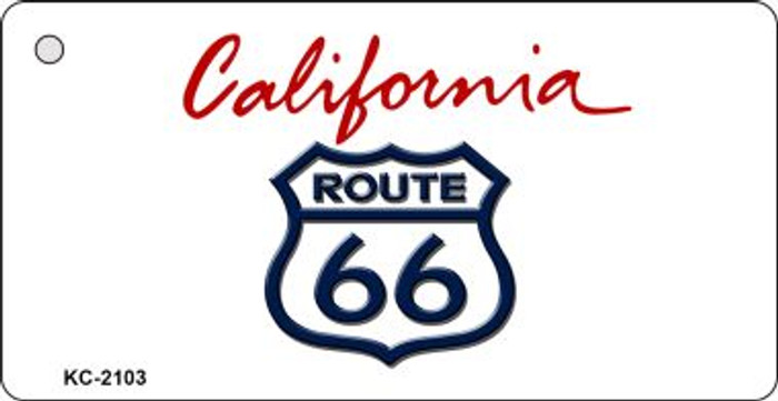 California Shield Route 66 Novelty Wholesale Key Chain
