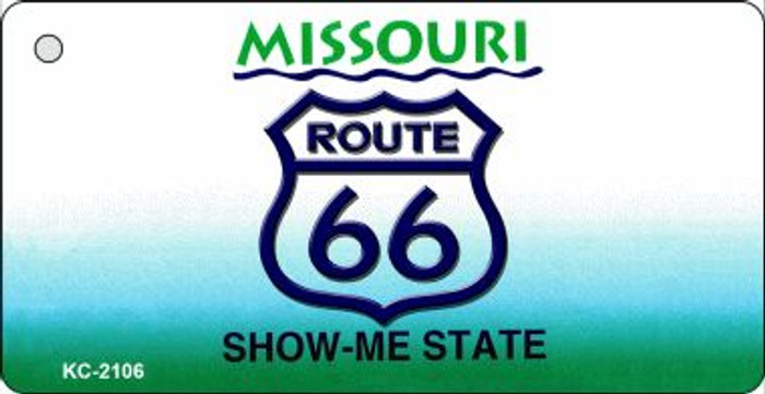 Missouri Shield Route 66 Novelty Wholesale Metal License Plate