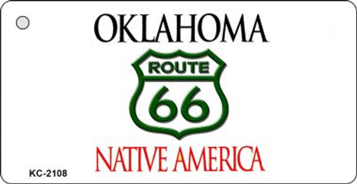 Oklahoma Shield Route 66 Novelty Wholesale Metal License Plate