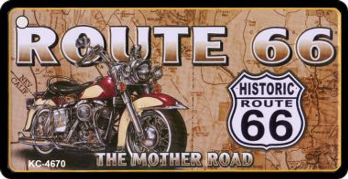 Route 66 Motorcycle Map Novelty Wholesale Metal License Plate