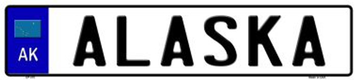 Alaska Novelty Wholesale Metal European License Plate