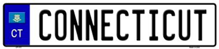 Connecticut Novelty Wholesale Metal European License Plate