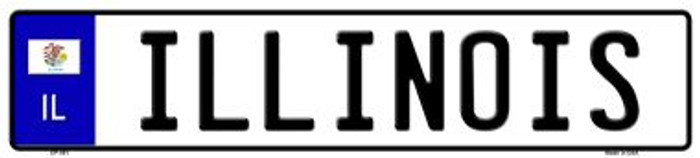 Illinois Novelty Wholesale Metal European License Plate