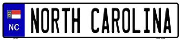 North Carolina Novelty Wholesale Metal European License Plate