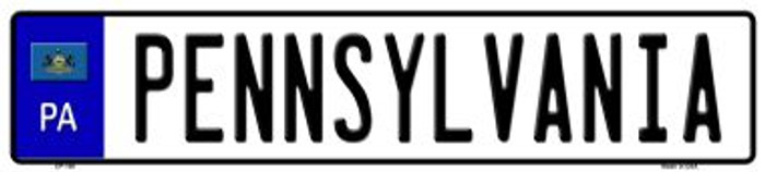 Pennsylvania Novelty Wholesale Metal European License Plate