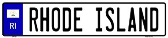 Rhode Island Novelty Wholesale Metal European License Plate