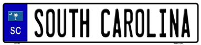 South Carolina Novelty Wholesale Metal European License Plate