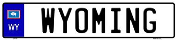 Wyoming Novelty Wholesale Metal European License Plate