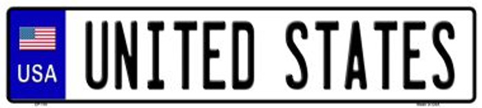USA Novelty Wholesale Metal European License Plate