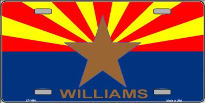 Williams Arizona Flag Wholesale Metal Novelty License Plate LP-1494
