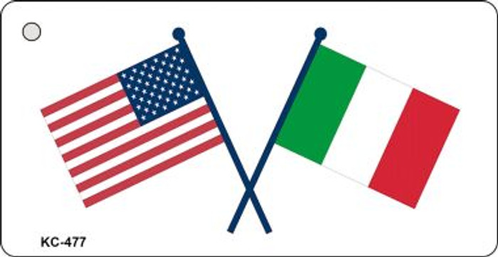 USA Italy Crossed Flags Wholesale Novelty Key Chain