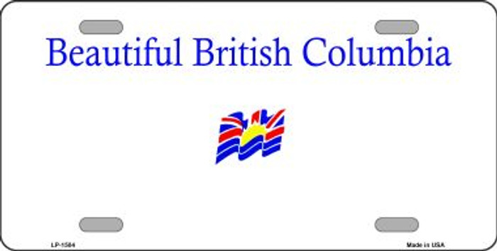 British Columbia Novelty Background Wholesale Metal License Plate LP-1504