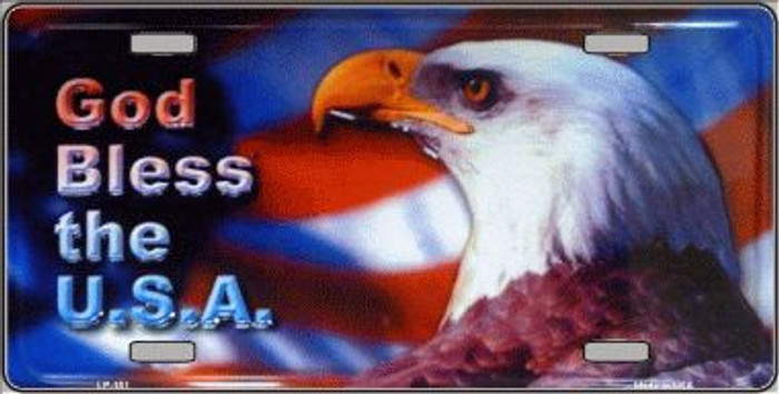 God Bless USA Eagle Wholesale Metal Novelty License Plate LP-151