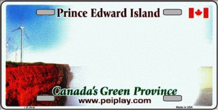 Prince Edward Island Novelty Background Wholesale Metal License Plate LP-1510